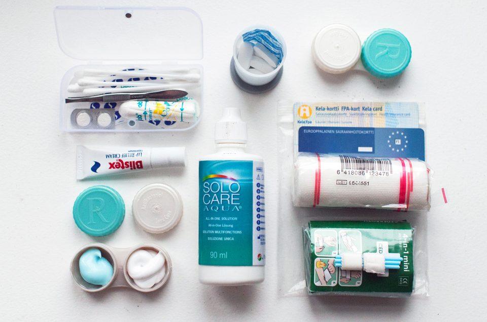 Pakkausvinkit: ensiapu ja hygienia
