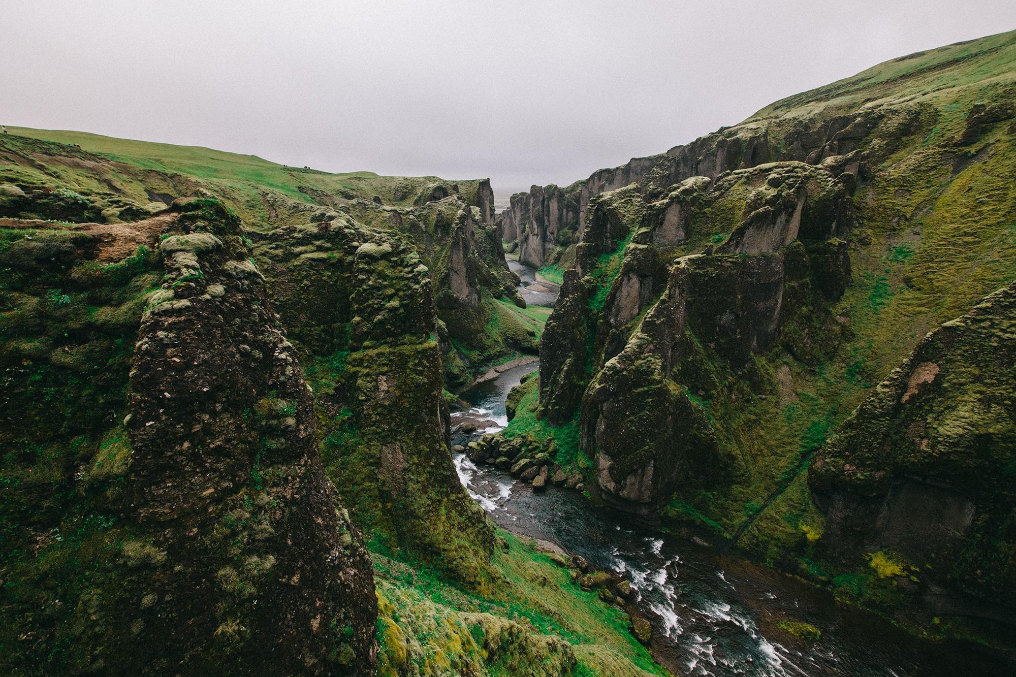 Islanti - Fjadrárgljúfurin kanjonin kuiskaus
